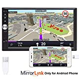 PolarLander 7 '' Zoll-LCD-Touch-Screen-Auto-Radio-Player Unterstützung Bluetooth Hands Free 1080P Film-Rückfahrkamera 2 Din Car Audio Stereo Mp5 Blau