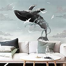 Chan-Mei 3D un grande murales dipinti a mano, Mediterraneo della Balena Blu Wallpaper camera dei bambini camera da letto Soggiorno panno a parete 350cmX300cm