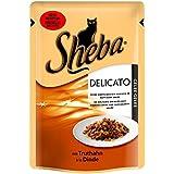 Sheba saftige Streifen Truthahn in Gelee | 12x 85g Katzennassfutter