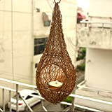 MIB Bird Nest Hanging Tea Candle For Home Decoration/Tea Light Candles Holder Decoration
