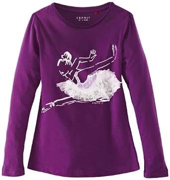 ESPRIT Mädchen T-Shirt Gr. 10-11 Jahre, Violett - Grape Purple