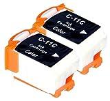 2 Multipack XL Canon BCI-11 Patronen Kompatible. 2 color für Canon BJ-30, BJ-35, BJ-35V, BJC-35, BJC-50, BJC-55, BJC-70, BJC-80, BJC-85, BJC-85W, LR1 Print Station, Notejet IIIcx, Apple Color Stylewriter 2200. Tintenpatrone. Tinten kompatible Druckerpatronen. BCI-11-C © Patronenland