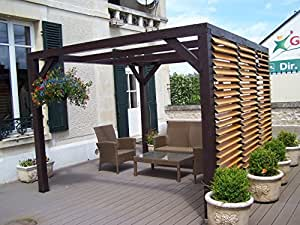 pergola avec ventelles amovibles ombra vantelles paroi jardin. Black Bedroom Furniture Sets. Home Design Ideas