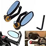 KaTur Rückspiegel für Motorrad, Spiegel für Yamaha Honda Triumph Ducati Suzuki Remasuri, Universalspiegel für 22-mm-Griffe, Aluminiumlegierung, runde Form