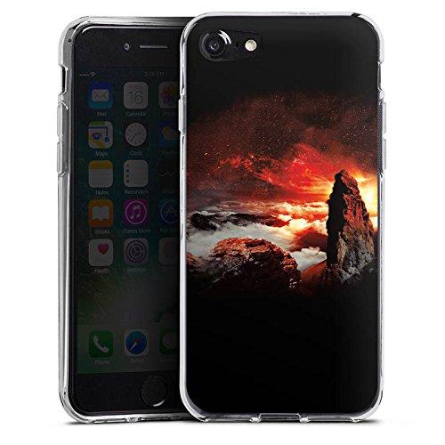 Apple iPhone X Silikon Hülle Case Schutzhülle Wolken Fantasie Berge Silikon Case transparent