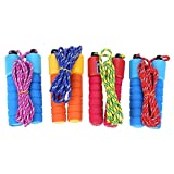 Everpert Skipping Rope, Speed Jump Rope with Cotton Sponge Count Handle for Skipping Fitness Outdoor Sporting
