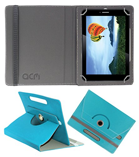 Acm Rotating 360° Leather Flip Case For Iball Slide 7236 2gi Tablet Cover Stand Greenish Blue  available at amazon for Rs.149