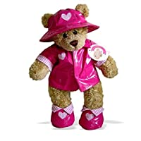 Build Your Bears Wardrobe 5060322141510 Teddy Bear Clothes Outfit Raincoat, Pink