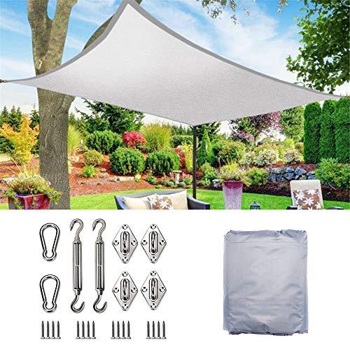 AAIHX Garden Wasserdichter Sonnenschutz Sail Arc Rectangle UV-Schutz 70% wasserdichtes Oxford-Tuch Outdoor Sails Net Canopies Yard,3x8m - Arc Schutz