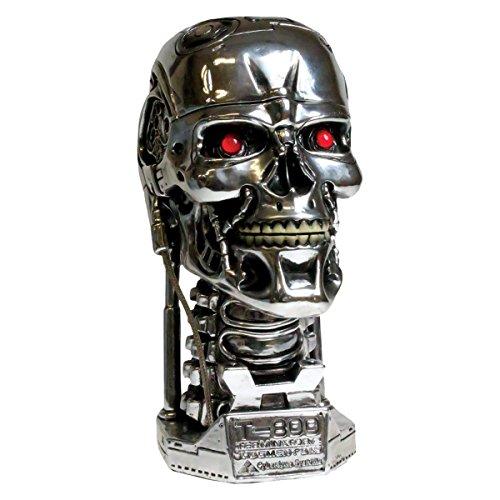 Dark Dreams Steampunk Science Fiction Schädel Terminator 2 T-800 Kopf Figur Head Box Dekoration 21 cm Geschenkidee für (Kostüme Box T Die)