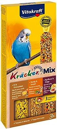 غذاء مكمل للطيور من فيتا كرافت - كراكر مزيج - ثلاثي (البيض وبذور الاعشاب والمشمش والتين والعسل والسمسم) - 80 ج