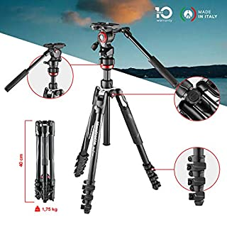 Manfrotto Befree Live Lever Lock Lightweight Aluminium Travel Tripod with MVH400AH Fluid Head for DSLR, Mirrorless, Compact and Video Cameras up to 4 kg MVKBFRL-LIVE (B07HHBWV3V) | Amazon price tracker / tracking, Amazon price history charts, Amazon price watches, Amazon price drop alerts