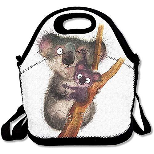 Lunch-Tasche, süße Koala, große & dicke Neopren, isolierte Lunch-Tasche, Kühltasche, warm, mit Schultergurt, für Damen, Teenager, Mädchen, Kinder, Erwachsene