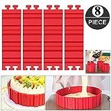 Bake Snake, Kuchenformen, Tortenring Verstellbar, Silikon Form, Backform, Fondant Zubehör, Cake Mould, DIY eine Vielzahl von Formen(8 stück)