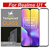 Kavacha Full Glue 5 D Edge-to-Edge Screen Protection Tempered Glass for Realme U1