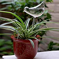 Beautyrain Dispositivo de riego automático Dispositivo de Flor de riego de Vidrio Herramientas de Flor de riego Dispositivo de Maceta Forma de pájaro (1 Pcs)