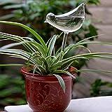 Kicode Hecho a mano de cristal Bird Waterer Para mantener sus plantas en macetas y flores regado