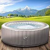 Whirlpool IZY Spa aufblasbar 4 Personen Ø165x70cm 105 Massagedüsen Heizung Aufblasfunktion per Knopfdruck 650l Wellness Massage