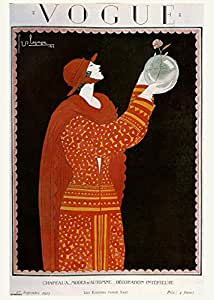 Vintage Vogue Cover September 1923 Poster Art Print by onthewall