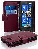 Cadorabo - Etui Housse pour Nokia Lumia 820 - Coque Case Cover Bumper Portefeuille (avec fentes pour cartes) en ORCHIDÉE VIOLETS