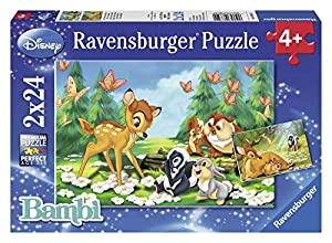Disney - Animal Friends, puzzle de 2 x 24 piezas (Ravensburger 08852 2) , Modelos/colores Surtidos, 1 Unidad