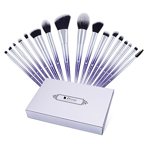 DUcare Make Up Pinsel Set 17pcs Professionelles Fantasie Lila Ombré Schminkpinsel Kosmetikpinsel...