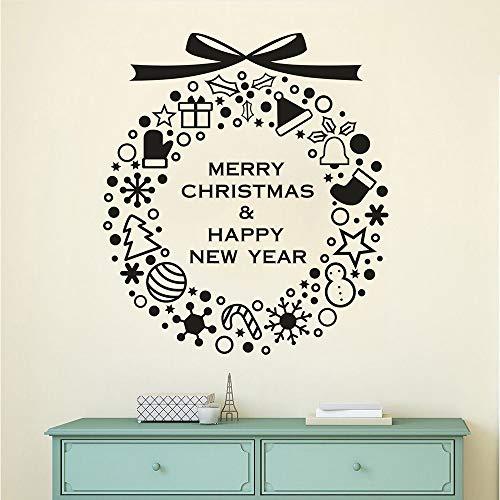 Meaosy Wandtattoo Frohe Weihnachten Mit Baum Handschuhe Vinyl Wandaufkleber Home Haustür Wandbild Holid Dekor Abnehmbare Fensterbild 1515 (Halloween Le 1515)