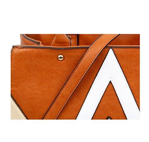 8e82600bf7ad1 LeahWard Große Taschen für Frauen Qualität Faux Leder Schultertaschen  Taschen für die Schule CW0155 (Braun ...