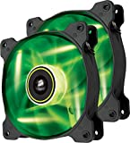 Corsair SP120 LED Ventilador de PC (120 mm, iluminación LED Verde) Paquete Doble