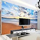 CYYYjz Peintures Murales Fond D'Écran 3D Plage De Sable Paysage Marin Lever du...