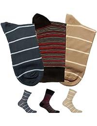 Gatta Perfect Men Casual Soft Cotton Socken V2-4 - 3er Pack - bunt gestreift-gemusterte elegante Männer Herrensocken