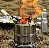 Forfar Holzofen Spiritus Ofen Tragbar Edelstahl Leicht für Picknick BBQ Camping Outdoor Kochen mit Netztasche - 6