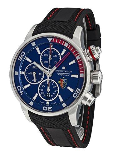 Maurice Lacroix Pontos–Reloj de pulsera para hombre FC Basel–Fecha Cronógrafo Automático pt6008de SS001–432