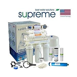 SUPREME Sistema de ósmosis inversa de 7 niveles, sistema de agua potable RO7, filtro de agua potable, filtro de ósmosis…