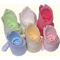 BLUESTAR bebé paños de bambú 100% Natural, suave absorbente toallas para bebé (para piel sensible, Baby Shower Regalos, 26cmx26cm (6-Pack)