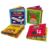 Baby Cloth Book Set Kids Early Learning Educational Toys, Set of 4