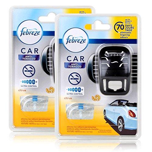 Febreze Car Fresh Escape Auto- Lufterfrischer Starter Anti-Tobacco (2er Pack)
