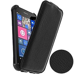 Etui à Clapet Ultra-Slim grainé - Star Case - Noir pour Nokia Lumia 635