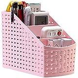 Moradiya Fresh Multi-Purpose Desk Organizer PP Plastic Desktop Storage Box Case Pen Pencil Holder Plastic Cosmetics Make Up Organizer Container