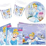 Cinderella Party Pack for 8 - 8 cups, 8 plates, 20 napkins, 1 tablecover!