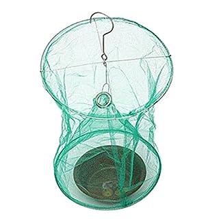 RecoverLOVE Schädlingsbekämpfung Fliegen Insektenfalle Netz Insektenbekämpfung Catcher Killerkäfig mit Köderaufbewahrungstopf für den Gartenbau im Freien Umweltfreundlich Faltbar