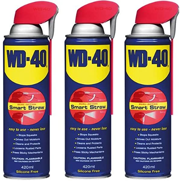Wd 40 Pene 3 X Smart Straw Aerosol 420ml Penetrant Amazon Co Uk Car Motorbike