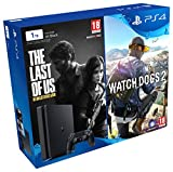 PlayStation 4 - Bundle Consola De 1 TB + The Last Of Us + Watch Dogs 2