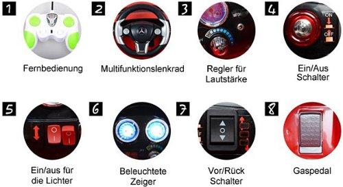 RC Auto kaufen Kinderauto Bild 5: Original Mercedes-Benz ML 4x4 4MATIC 350 SUV Lizenz Kinderauto Kinderfahrzeug (ROT)*