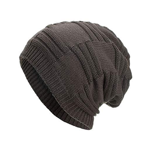 Kobay berretto invernale da donna in lana lavorata a maglia con maniche  lunghe lavorato a crochet 1890b9436be1