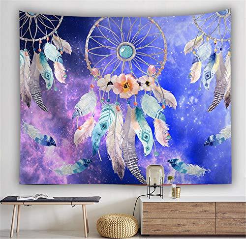 LYJZH Wandteppich Tapisserie Mandala Hippie Bohemien Orientalisch Wandtuch Wandbehang Wand Dekoration Tapestry Sternmuster Teppich Wanddekoration 6 150X130cm