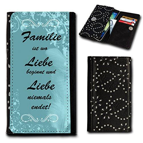 Strass Book Style Flip Handy Tasche Case Schutz Hülle Foto Schale Motiv Etui für Archos 50 Cesium - Flip SU6 Design12