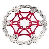 Mountainbike Bremsscheibe 180mm Fahrrad Bremsscheibe, MTB schwimmende Scheibe 6-Loch kompatibel mit Avid, Magura, Hayes, Tektro, Shimano uvm (Rot, 180mm)