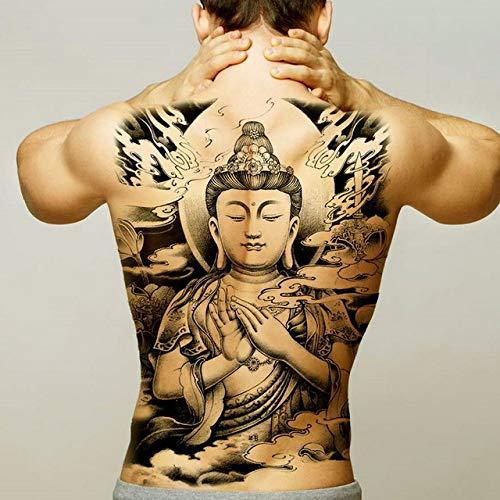 Modeganqing 2 Stück Ich Bin Dein Held großen Rücken Tattoo Wassertransfer Kind Body Art Tattoos X89 48 * 35cm Tattoo -