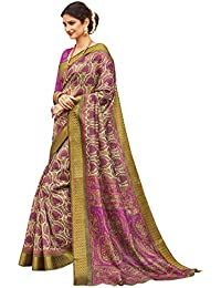 Craftsvilla Silk Saree with Blouse Piece (MCRAF53481672160_Purple_Free Size)